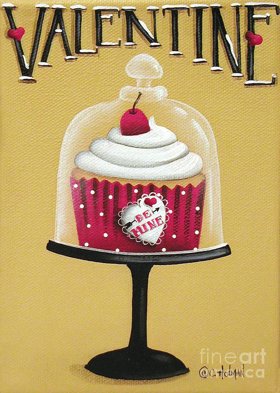 Art Poster featuring the painting Be Mine Valentine by Catherine Holman