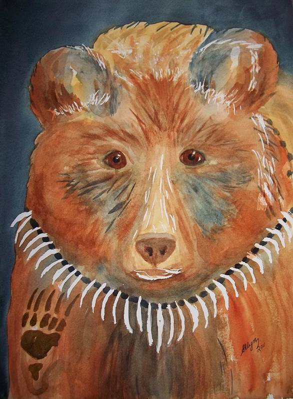 Bear Poster featuring the painting Bear Medicine by Ellen Levinson