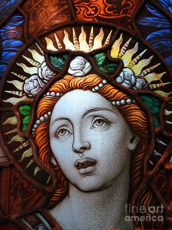 Stained Glass Poster featuring the photograph Beauty In Glass by Ed Weidman
