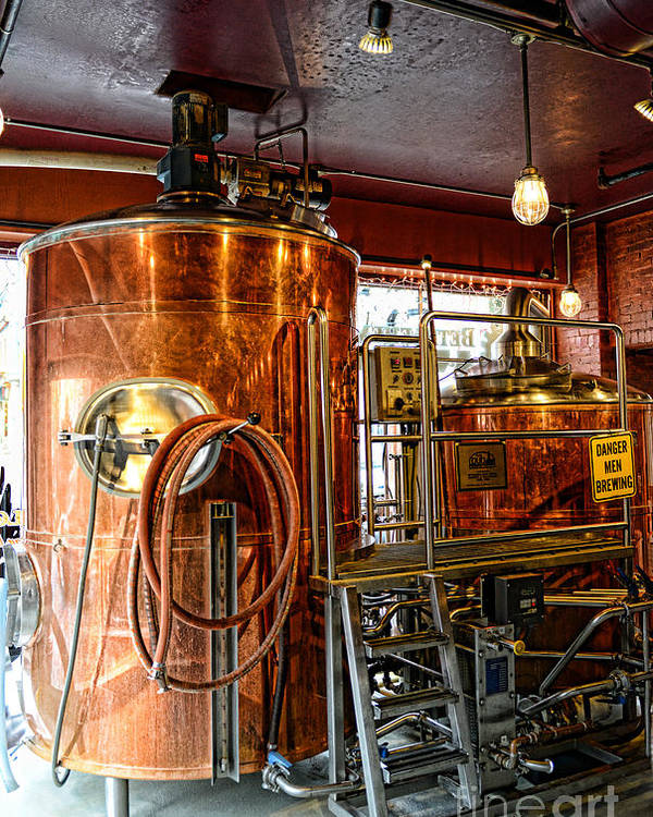 Paul Ward Poster featuring the photograph Beer - The Brew Kettle by Paul Ward