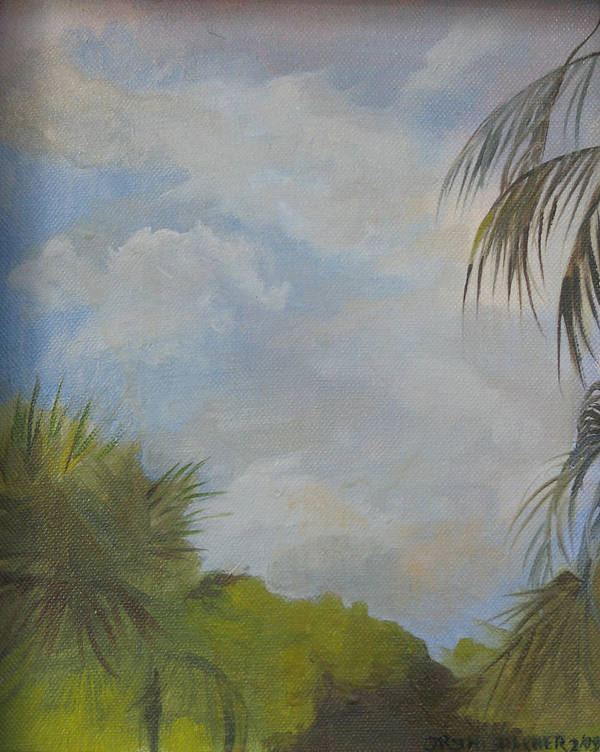 Poster featuring the painting Before The Rain by Julie Orsini Shakher
