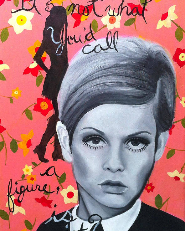 Twiggy Poster featuring the painting Benchmark Of Beauty IIi by Nique Arr