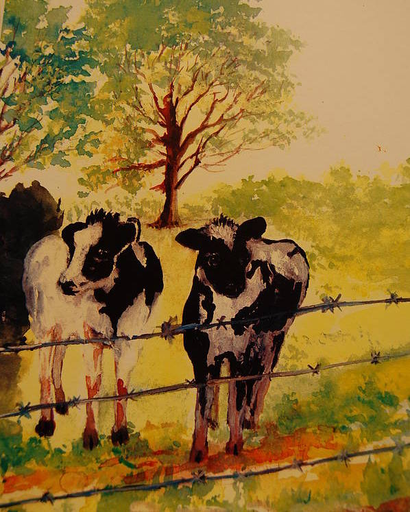 Animal Paintings Poster featuring the painting Best Friends by Lynn Beazley Blair