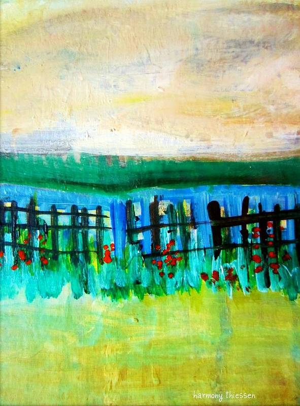 Landscape Poster featuring the painting Beyond by Harmony Thiessen