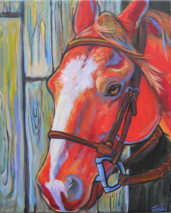 Horse Poster featuring the painting Big Red by Jenn Cunningham