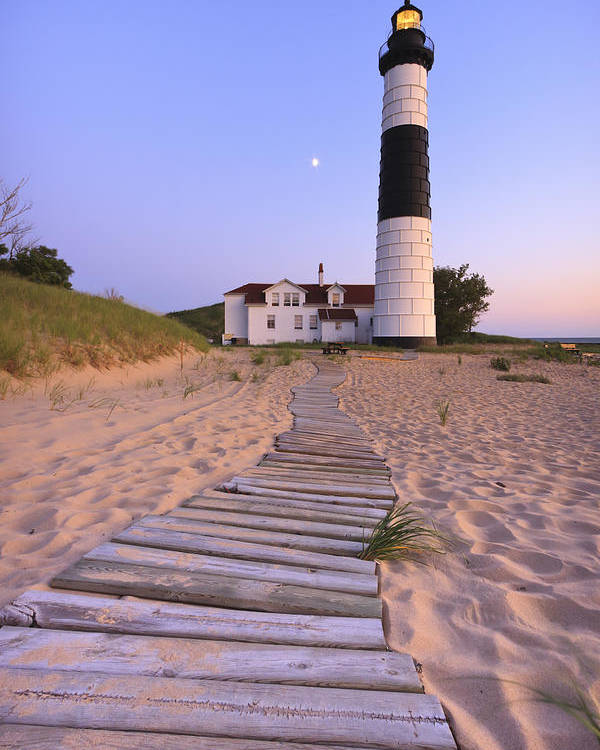 3scape Photos Poster featuring the photograph Big Sable Point Lighthouse by Adam Romanowicz