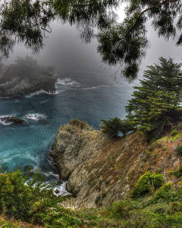 California Poster featuring the photograph Big Sur Julia Pfeiffer State Park-1 Central California Coast Spring Early Afternoon by Michael Mazaika