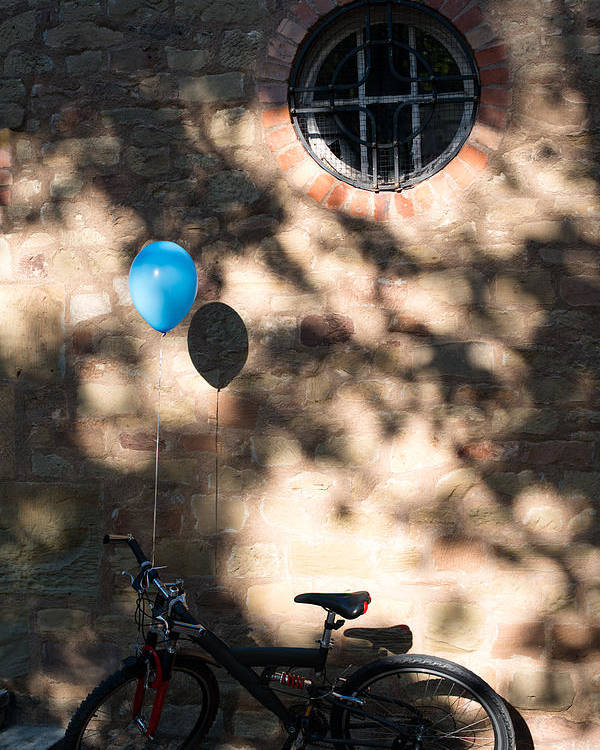Bicycle Poster featuring the photograph Bike With Balloon by Frank Gaertner