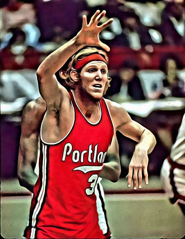 Bill Walton Poster featuring the painting Bill Walton by Florian Rodarte