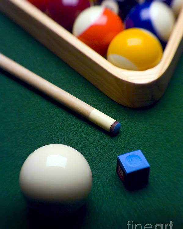 Billiard Poster featuring the photograph Billiards by Tony Cordoza