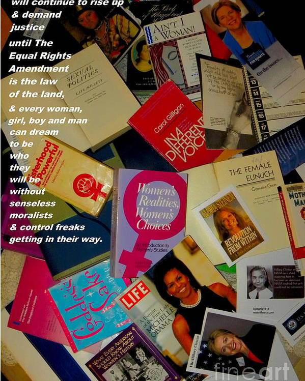 Binders Full Of Women Poster featuring the photograph Binders Full Of Women by Perry Conley