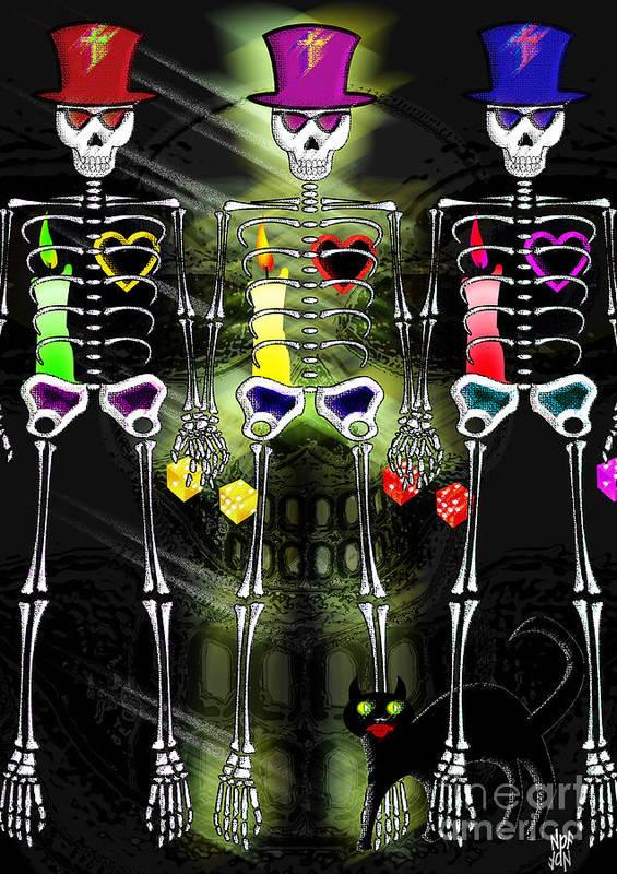 Myth Poster featuring the digital art Black Cat Bone by Neil Finnemore