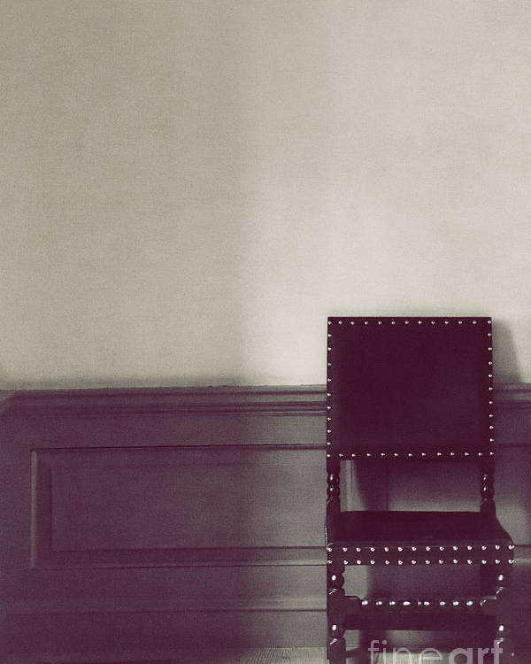 Chair Poster featuring the photograph Black Stud by Margie Hurwich