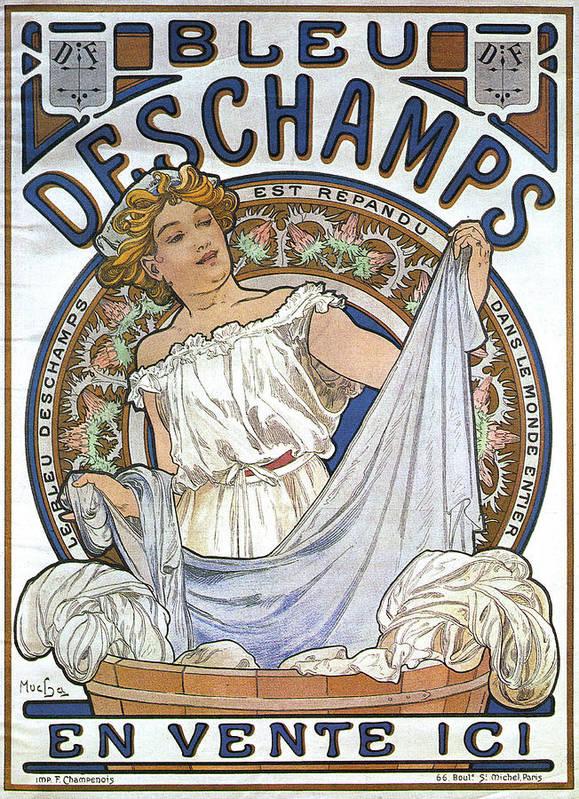 Art Poster featuring the digital art Bleu Deschamps by Georgia Fowler