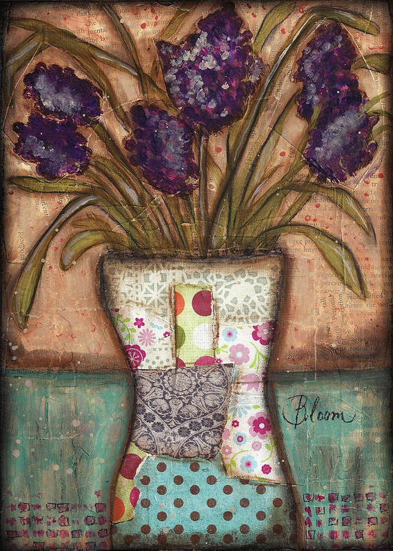 Flowers Poster featuring the mixed media Bloom by Shawn Petite