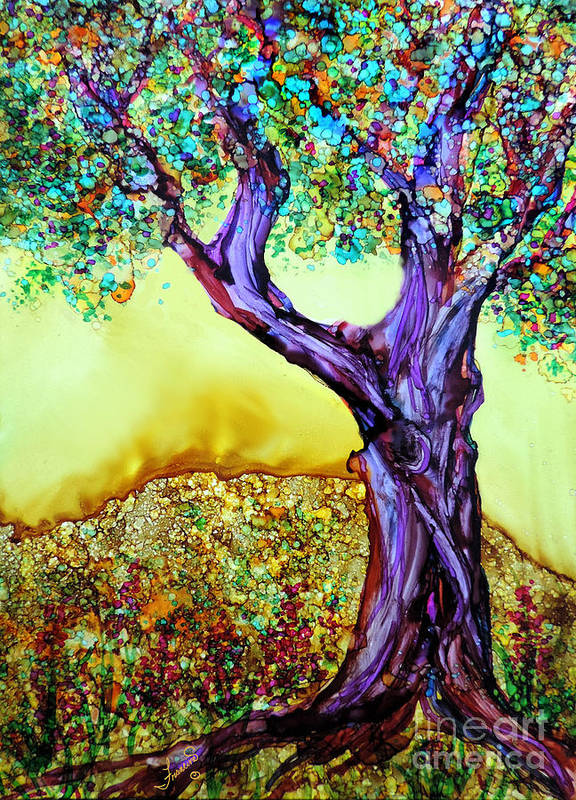Alcohol Inks Poster featuring the painting Blooming Tree by Francine Dufour Jones