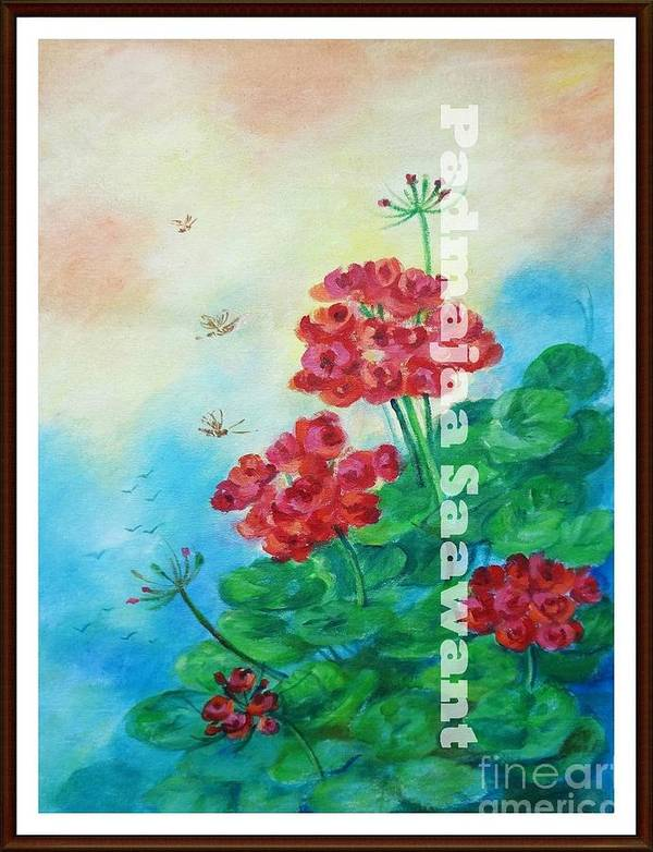 Poster featuring the painting Bloosom 2 by Nalini Sawant