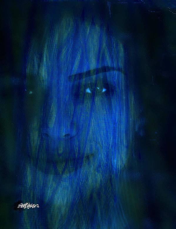 Blue Veil Poster featuring the digital art Blue Veil by Seth Weaver
