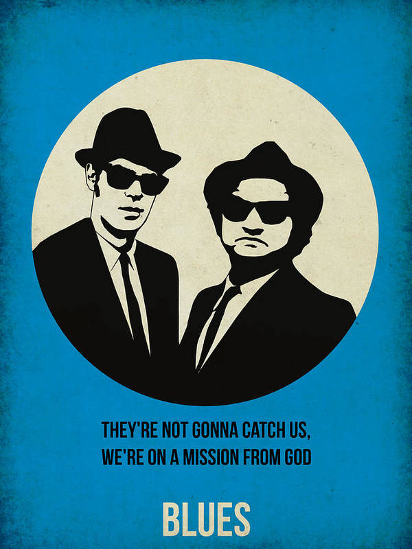 Poster featuring the painting Blues Brothers Poster by Naxart Studio