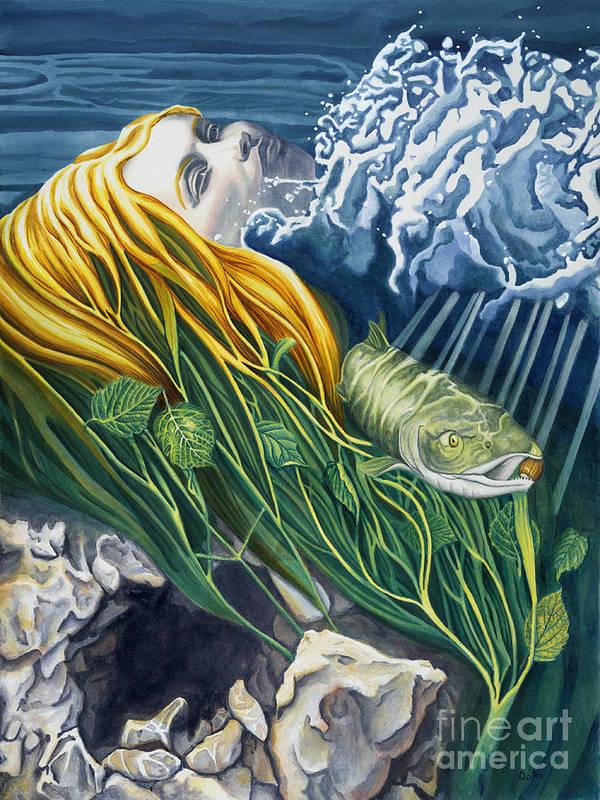 Boann Poster featuring the painting Boann Transformation Of A Goddess by Do'an Prajna - Antony Galbraith