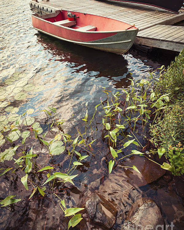 Boat Poster featuring the photograph Boat At Dock by Elena Elisseeva