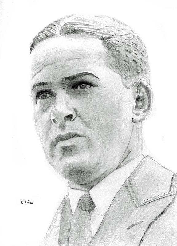Robert Tyre Jones Poster featuring the drawing Bobby Jones by Pat Moore