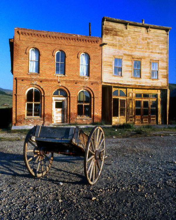 Storefronts Poster featuring the photograph Bodie Storefront by Joe Darin