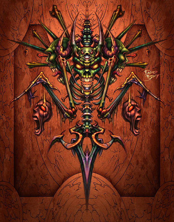 33a8940ec6f Fantasy Poster featuring the digital art Bone by David Bollt. Wall View 001