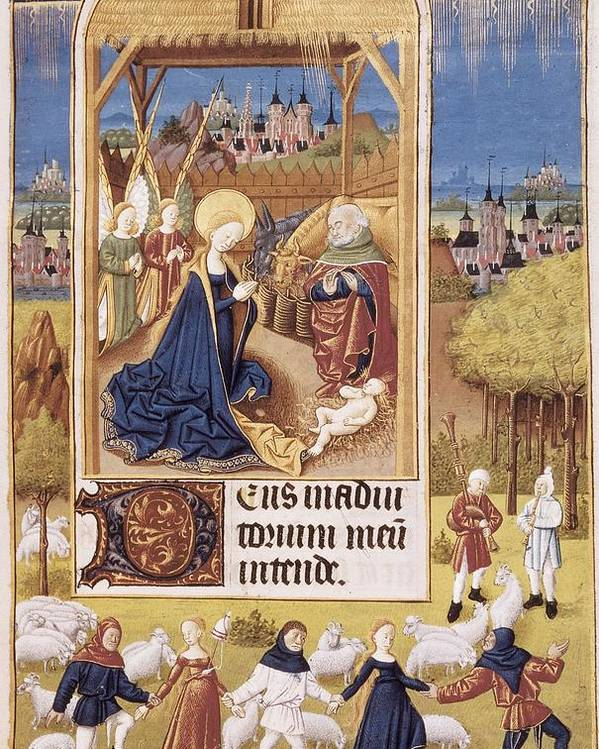 Flemish Art Poster featuring the photograph Book Of Hours Of Alonso Fern�ndez by Everett