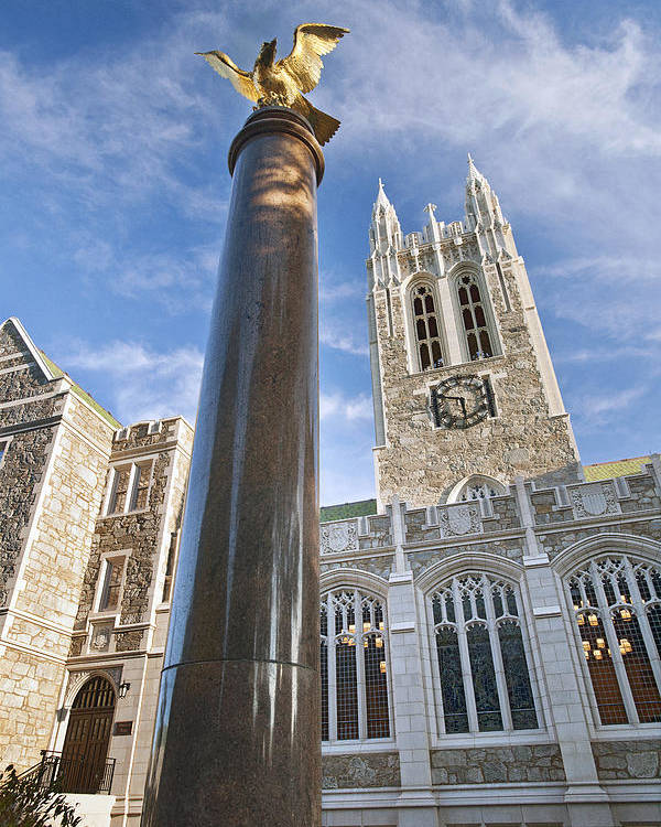 Gasson Hall Poster featuring the photograph Boston College Gasson Hall by Replay Photos