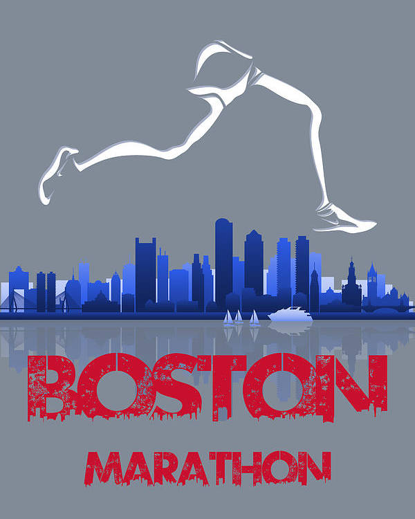 Runner Poster featuring the photograph Boston Marathon3 by Joe Hamilton