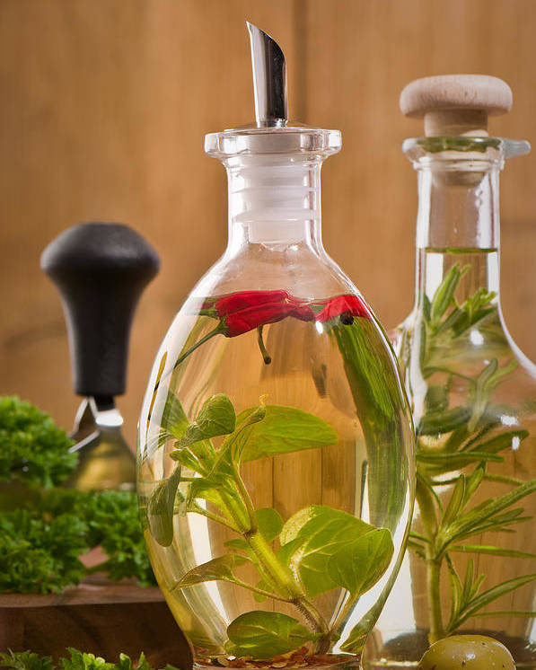 Olive Poster featuring the photograph Bottles Of Olive Oil by Amanda Elwell