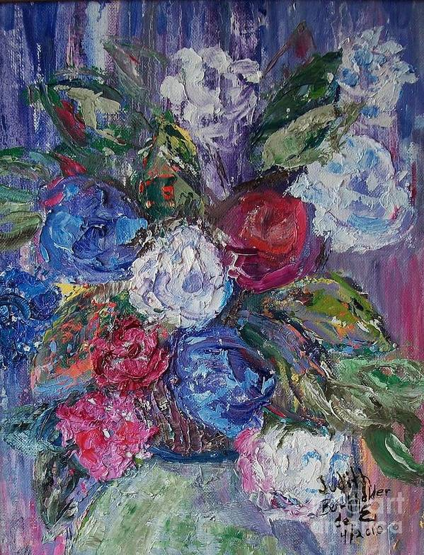 Bouquet Poster featuring the painting Bouquet 4 by Judith Espinoza