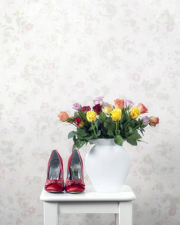 Shoe Poster featuring the photograph Bouquet Of Roses by Joana Kruse