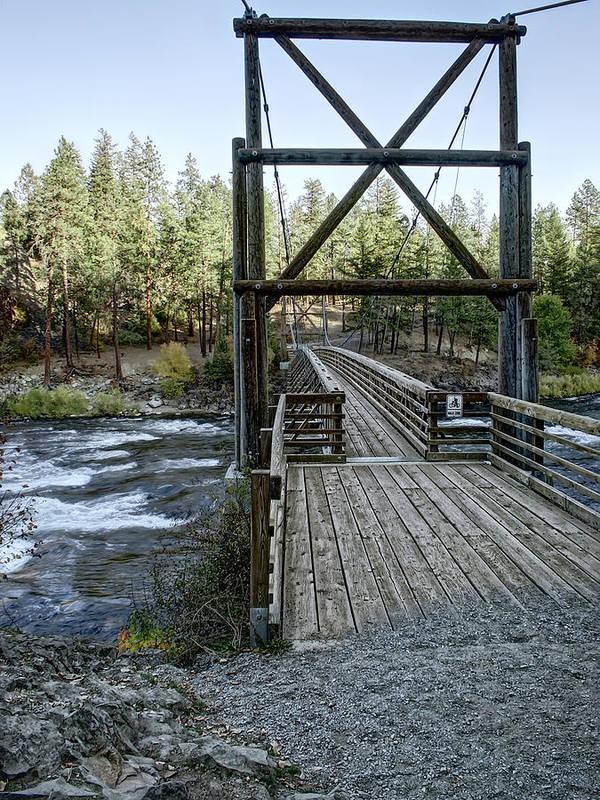 riverside State Park Poster featuring the photograph Bowl And Pitcher Bridge - Spokane Washington by Daniel Hagerman