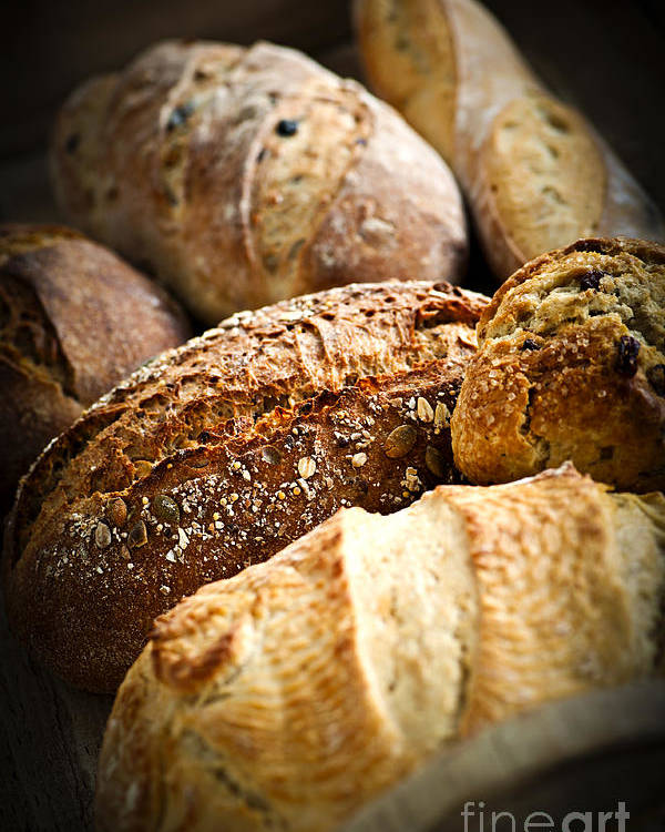 Bread Poster featuring the photograph Bread Loaves by Elena Elisseeva