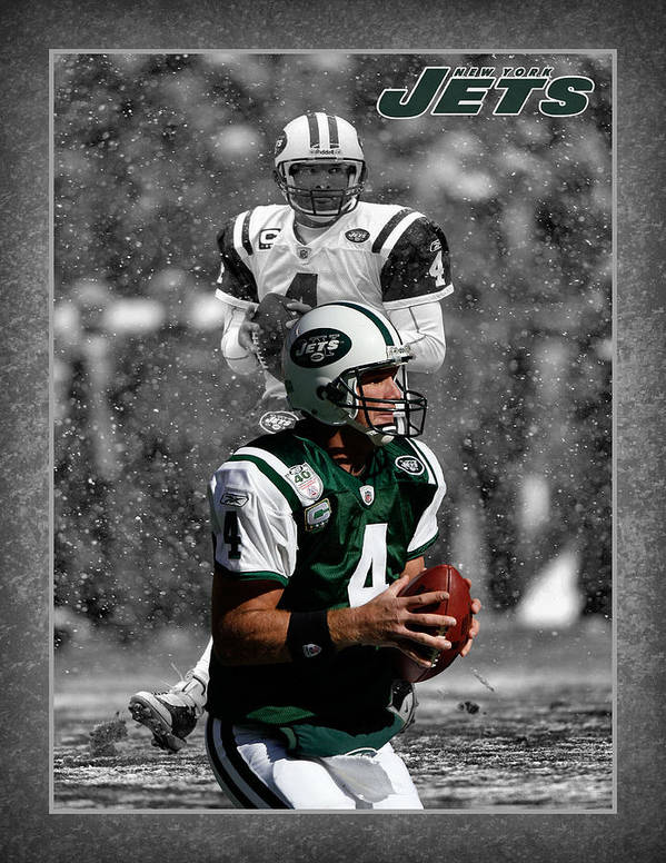 Brett Favre Poster featuring the photograph Brett Favre Jets by Joe Hamilton