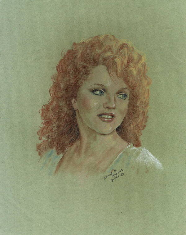 Kentucky Art Poster featuring the pastel Kentucky Beauty by Duane R Probus