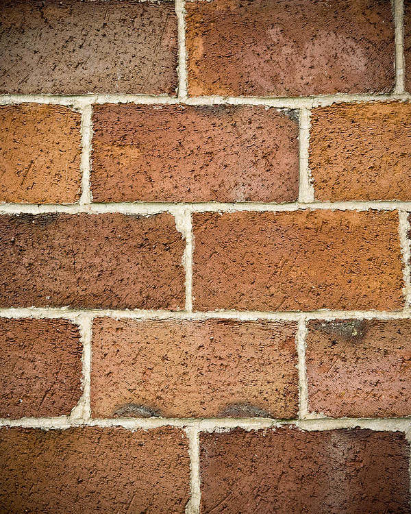Brick Poster featuring the photograph Brick Wall by Frank Tschakert
