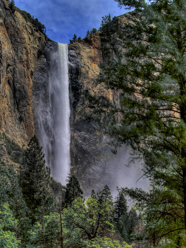 Waterfall Poster featuring the photograph Bridalveil Falls by Bill Gallagher