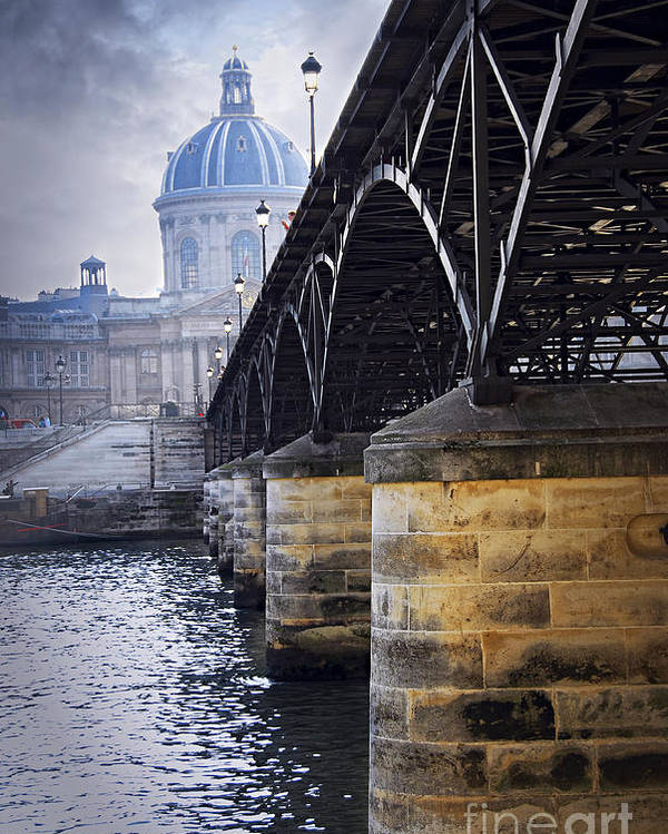 Architecture Poster featuring the photograph Bridge Over Seine In Paris by Elena Elisseeva