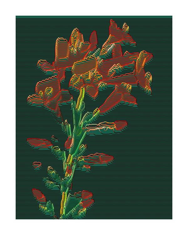 Art Paintings Poster featuring the painting Bright Flowers - 3 by Ck Gandhi