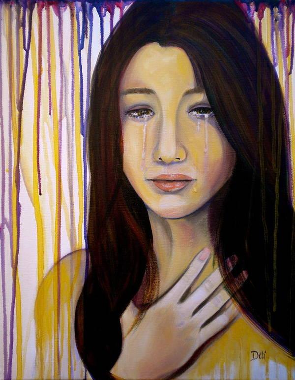Broken Poster featuring the painting Broken by Debi Starr