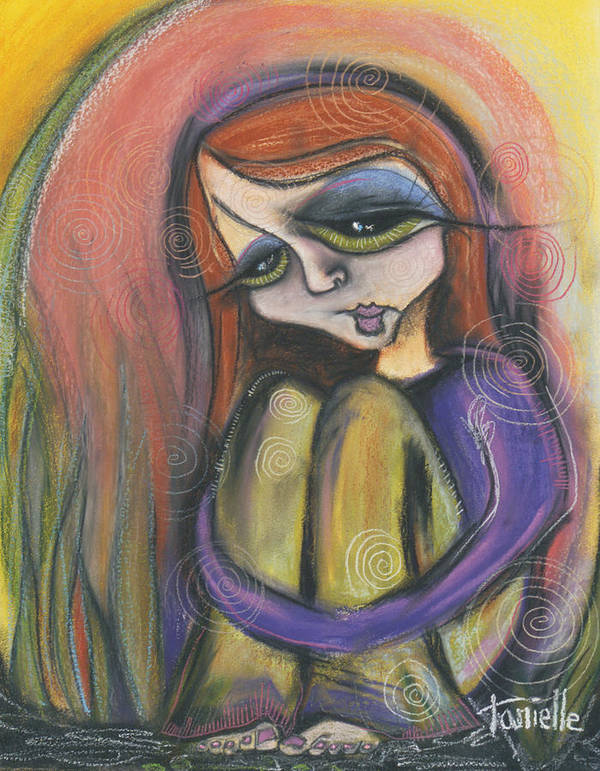 Self Portrait Poster featuring the pastel Broken Spirit by Tanielle Childers