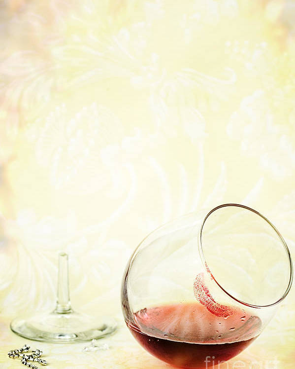 Broken Poster featuring the photograph Broken Wine Glass by Stephanie Frey