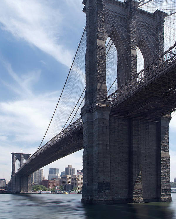 Brooklyn Bridge Poster featuring the photograph Brooklyn Bridge by Mike McGlothlen