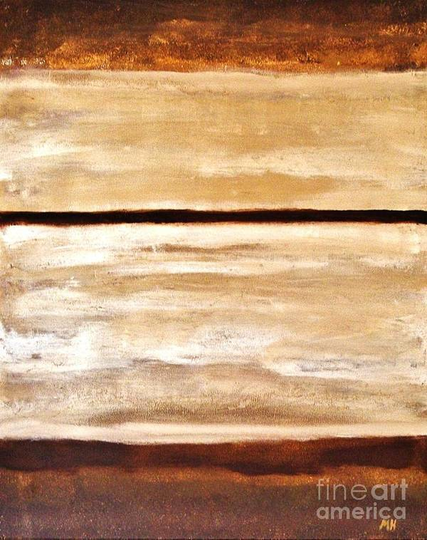 Painting Poster featuring the painting Browns Thru White Tones by Marsha Heiken