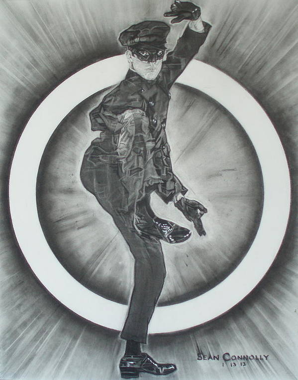 Asian Poster featuring the drawing Bruce Lee Is Kato 2 by Sean Connolly