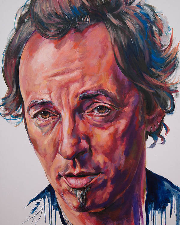 Bruce Poster featuring the painting Bruce by Tachi Pintor