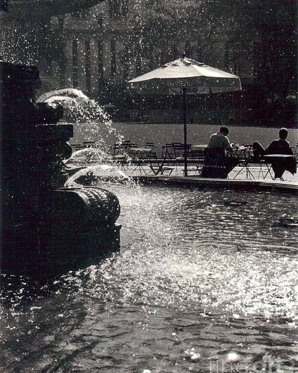 Bryant Park Poster featuring the photograph Bryant Park by Christina Moreno